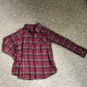 L.L. Bean girls flannel. Size M 10-12